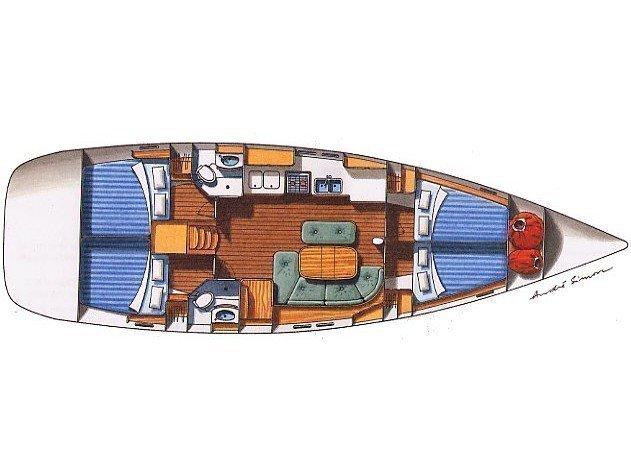 Oceanis 473 (Poker star) Plan image - 3