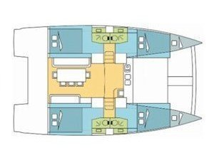 Bali 4.0 (Blue Dream II / with air-condition, generator & watermaker) Plan image - 13