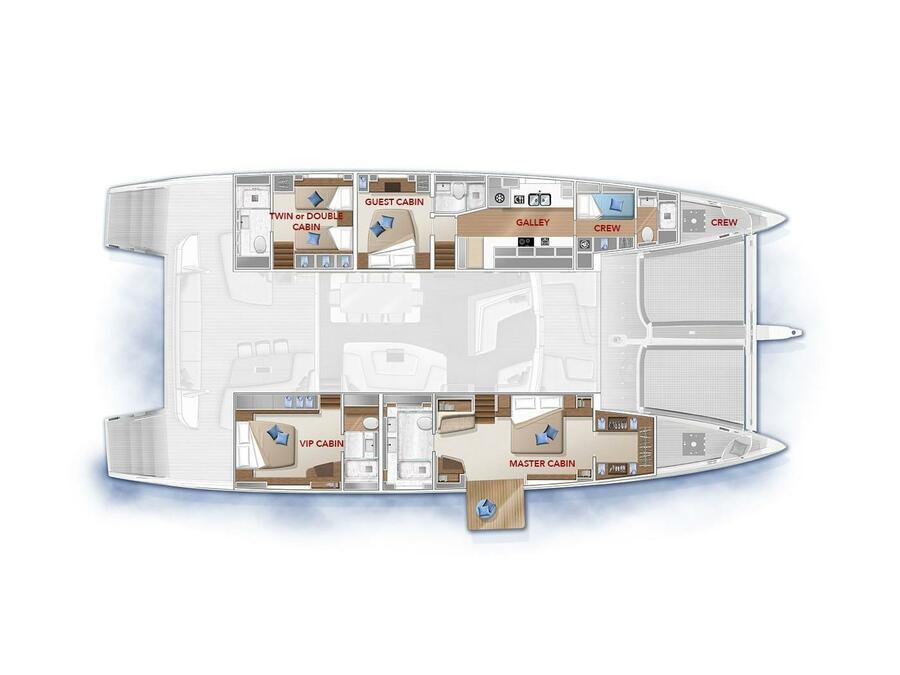 Lagoon Seventy 7 (ADRIATIC DRAGON) Plan image - 34