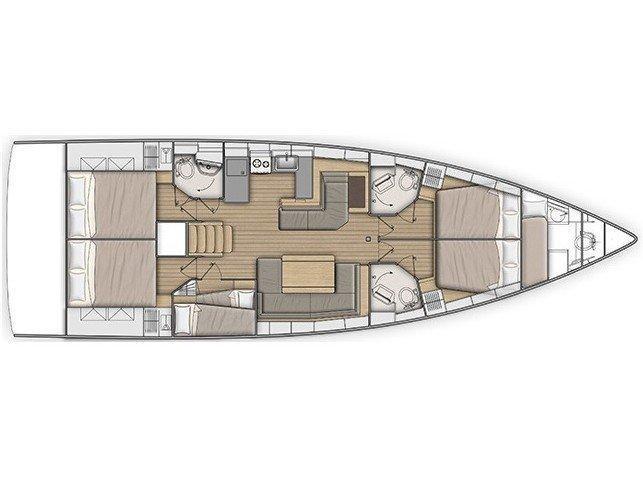 Oceanis 51.1 (Marea) Plan image - 8