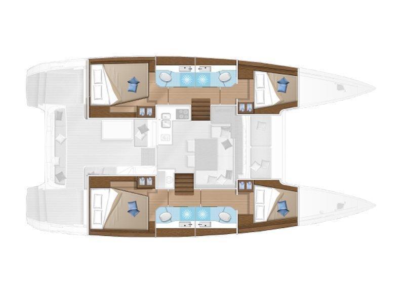 Lagoon 40 (MARI AC salon + generator + watermaker) Plan image - 1