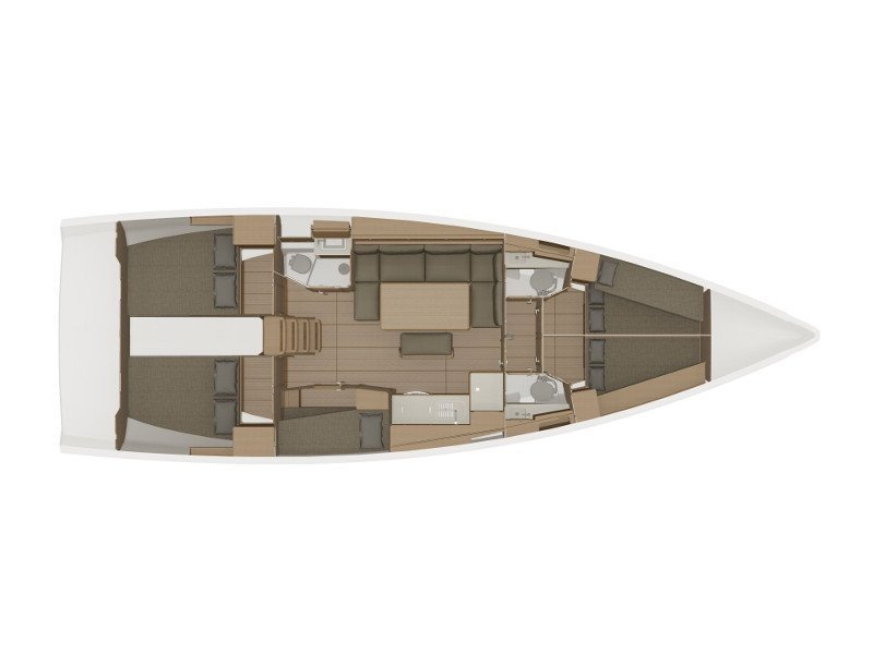 Dufour 460 Grand Large (5cab/3wc) (Tango I) Plan image - 2