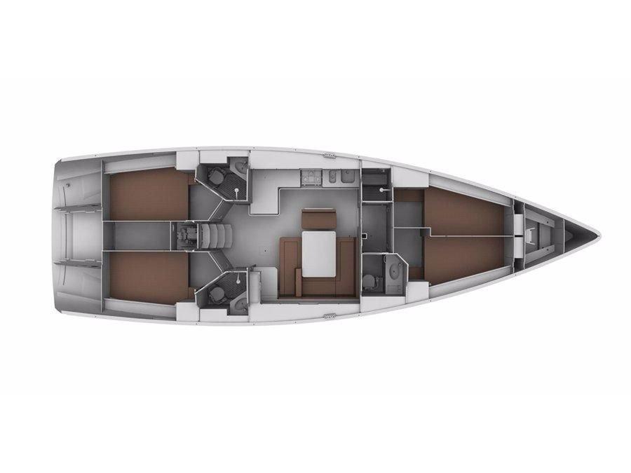 Bavaria 46 Cruiser (Graziella) Plan image - 1