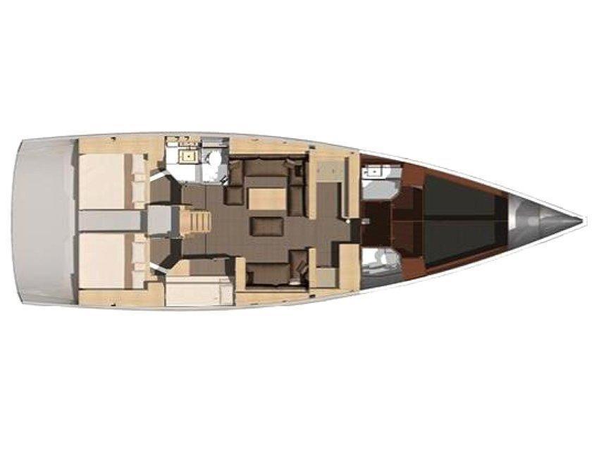 Dufour 512 Grand Large (Mambo) Plan image - 1