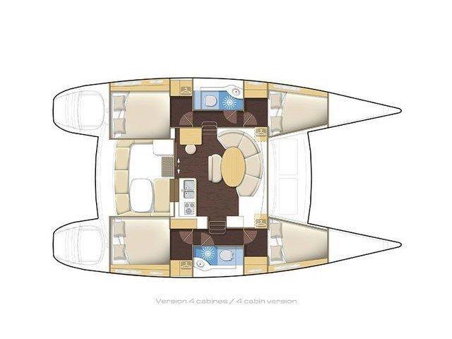 Lagoon 380 S2 (Catcake) Plan image - 16