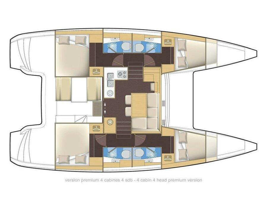 Lagoon 39 (Tortilla) Plan image - 12