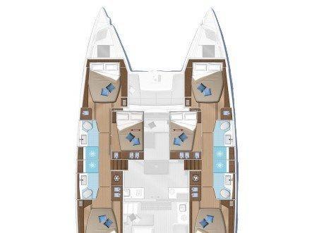 Lagoon 50 (HAPPY FEET) Plan image - 12