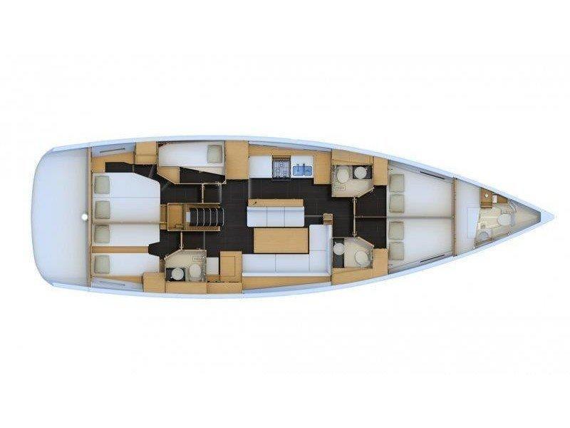 JEANNEAU 54 BT (MYSTIC DREAMS) Plan image - 13
