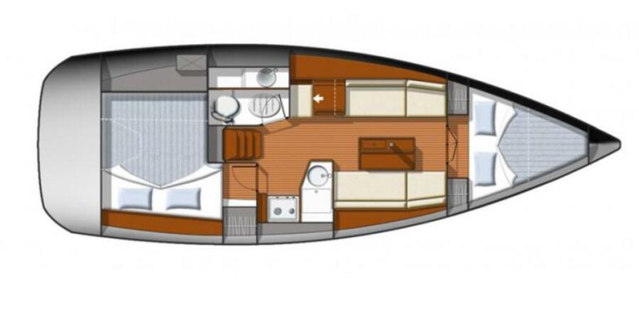 Sun Odyssey 33i (Aqua) floor plan - 10