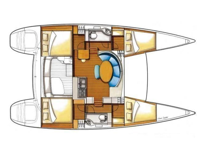 Lagoon 380 (Why not) Plan image - 3