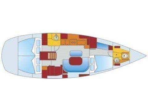 Oceanis 411 (Mica) Plan image - 9