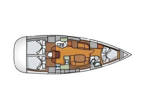 Jeanneau S.O. 42i (Vera (refitted in 2019, like new!)) Plan image - 1