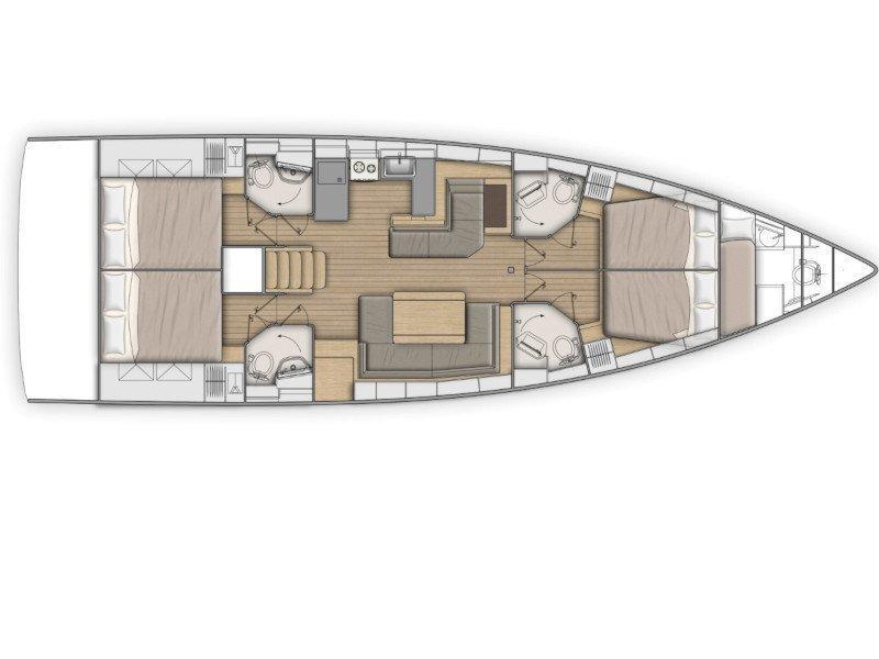 Oceanis 51.1 (GREY GOOSE ) Plan image - 34