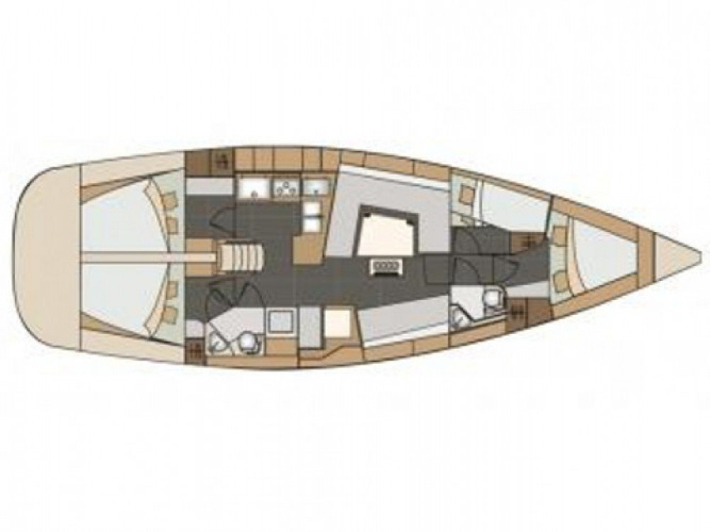 Elan 45 Impression (Showtime (AC)) Plan image - 1