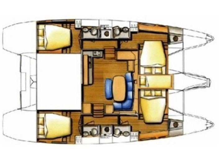 Lagoon 420 (TABASCO (with generator)) Plan image - 23