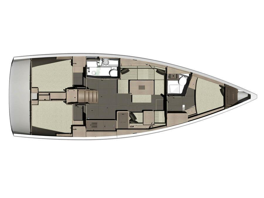 Dufour 412 Grand large (Sham) Plan image - 5