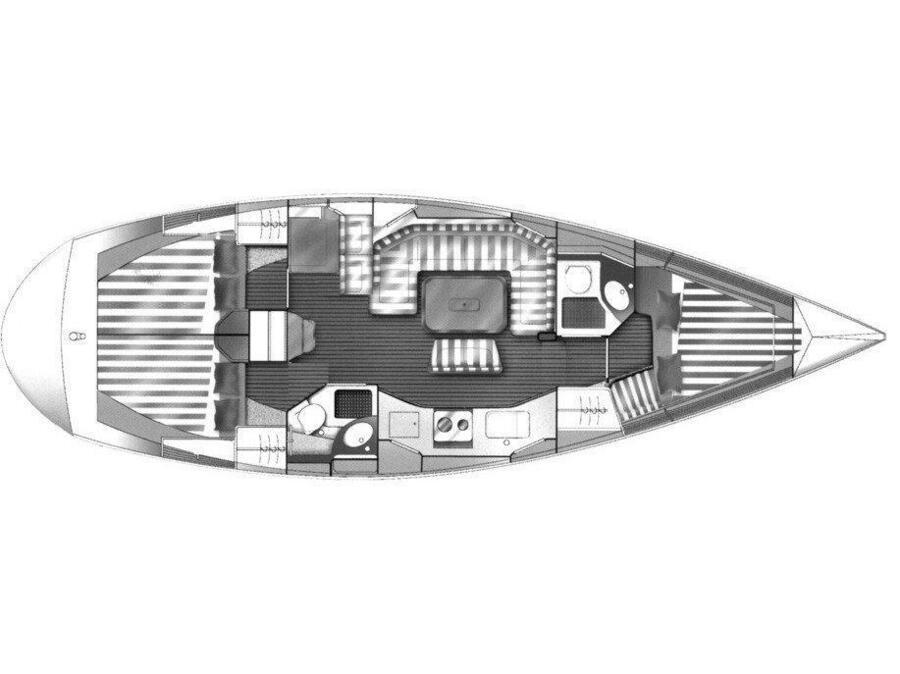 "Van de Stadt 42 Clipper ""FAFOS"" (Fafos II) Plan image - 7"
