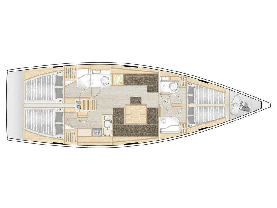 Hanse 458 (Triton) Plan image - 5