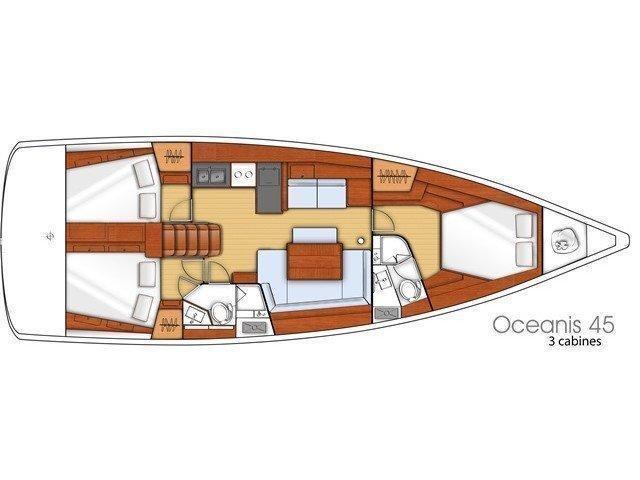 Oceanis 45 (Carpe Diem) Plan image - 4