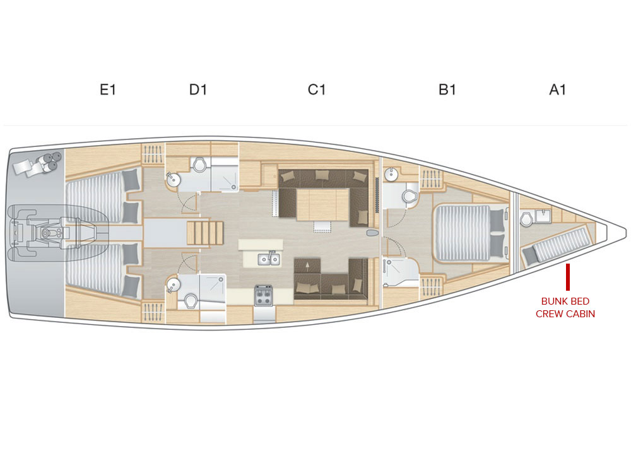 Hanse 588 - 3 cabins (FAR NIENTE) Plan image - 13