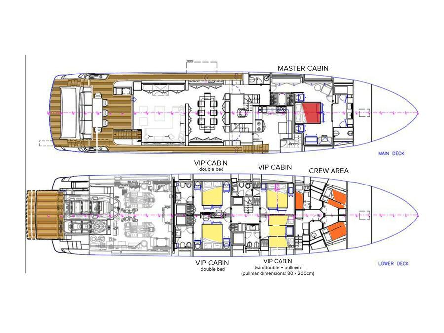 Riva Corsaro 100 (RUŽARIJA) Plan image - 12
