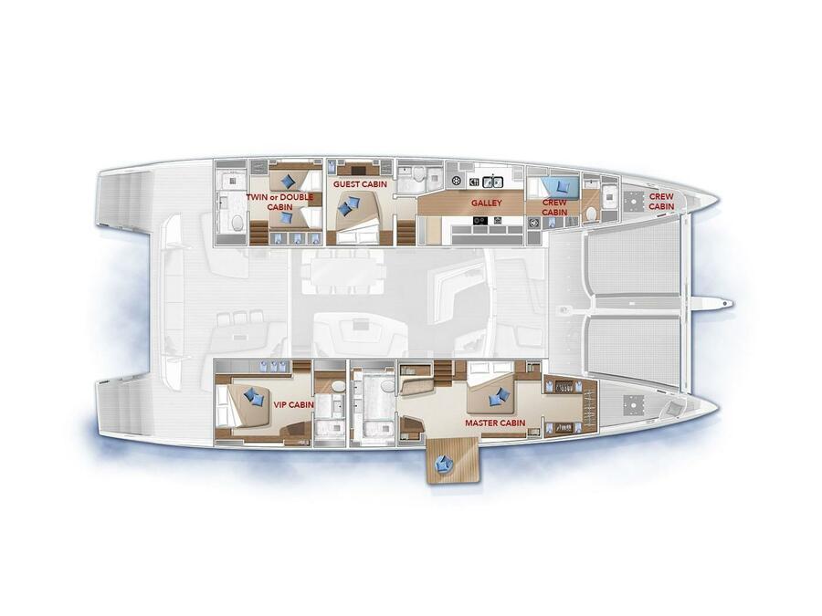 Lagoon Seventy 7 (ADRIATIC DRAGON) Plan image - 11