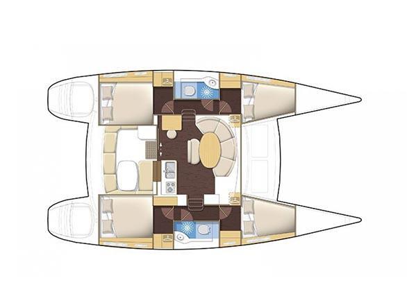 Lagoon 380 S2 (Gemini) Plan image - 5