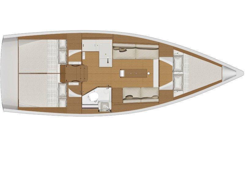 Dufour 360 Grand Large (Kuma) Plan image - 8