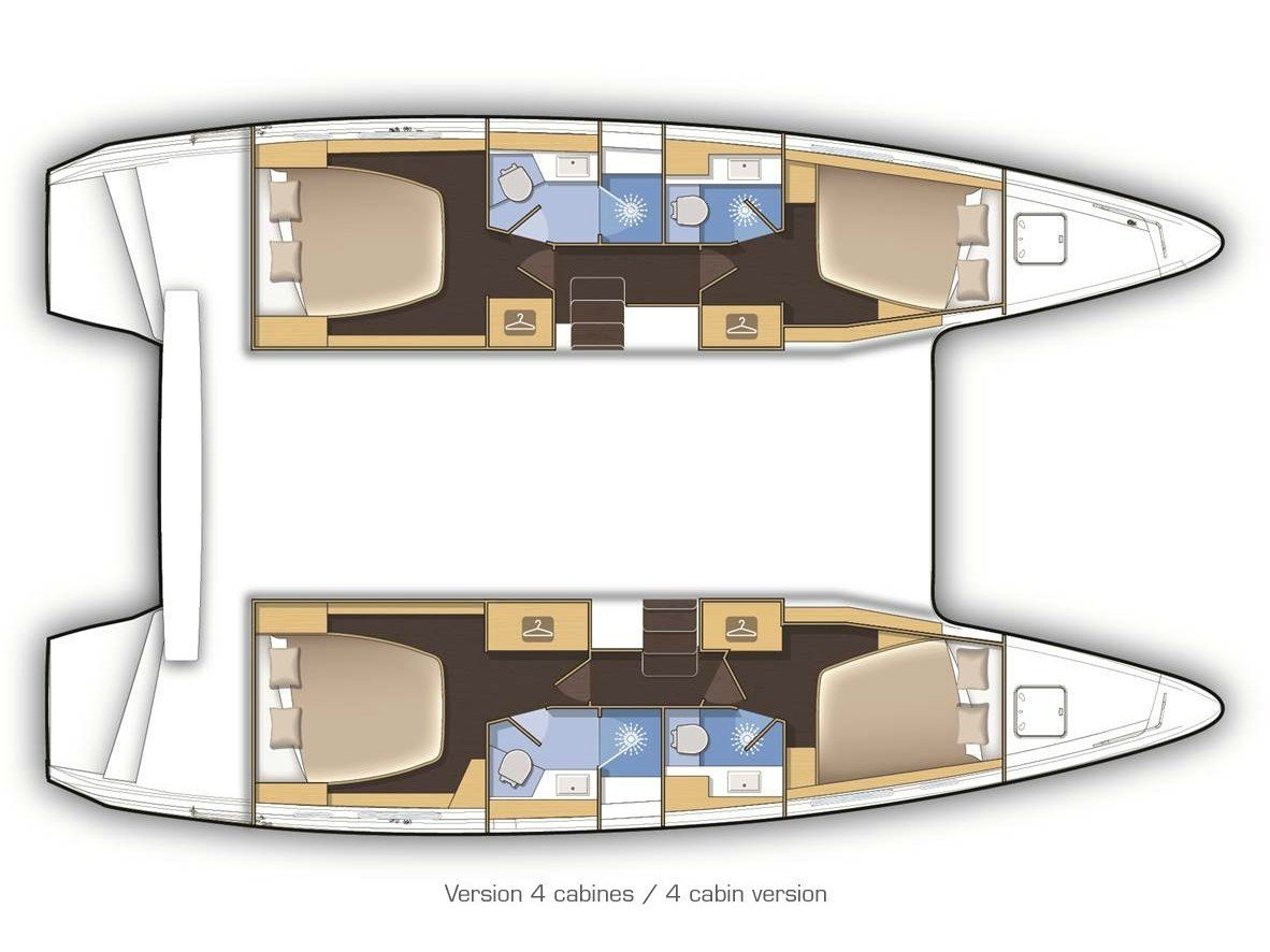 Lagoon 42 AC & GEN (Four Seasons) Plan image - 19