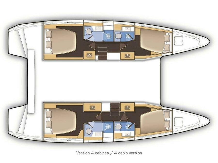 Lagoon 42 (NEVERLAND) Plan image - 2