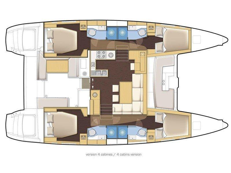Lagoon 450  Flybridge (TAMIRO II) Plan image - 2