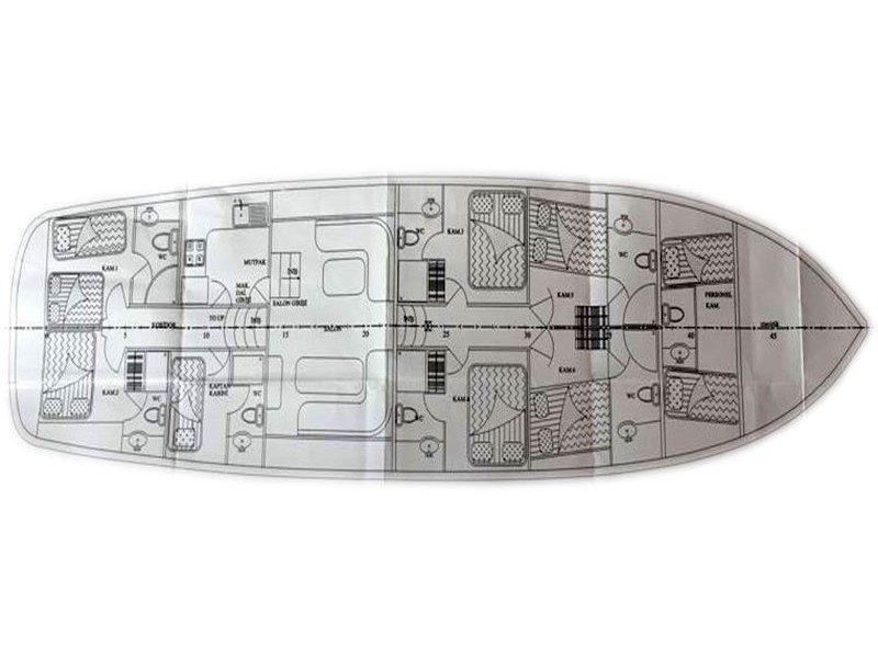 Gulet 79 Ft (Lycian Pearl) Plan image - 1
