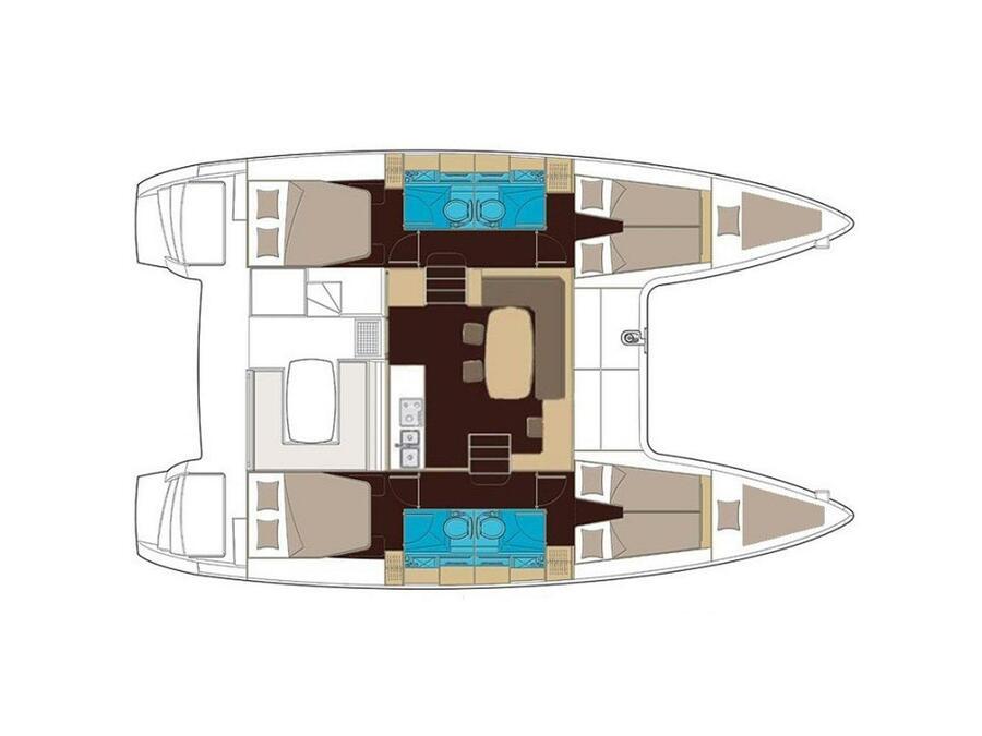 Lagoon 400 S2 (Pasiphae) Plan image - 3