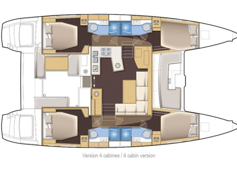 Lagoon 450 (OASIS Fully Equipped) Plan image - 17