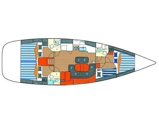Oceanis 473 (O473-SANT) Plan image - 1