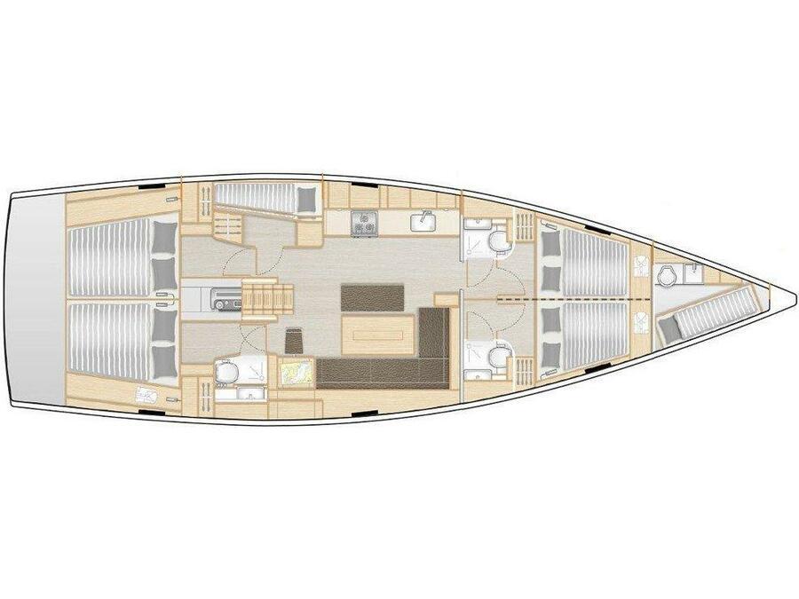 Hanse 508 (AKTEA) Plan image - 1