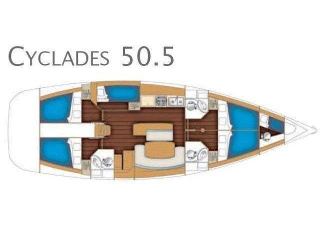 Cyclades 50.5 (Lady Kiki II) Plan image - 19