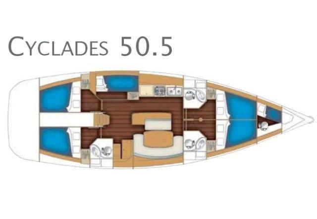 Cyclades 50.5 (Lady Kiki II)  - 6