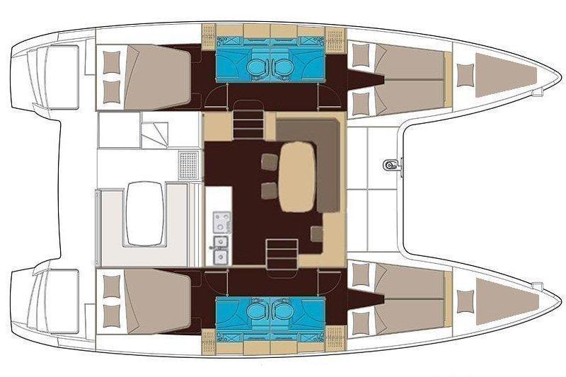 Lagoon 400 S2 (Sailing Blue 4) Plan image - 2
