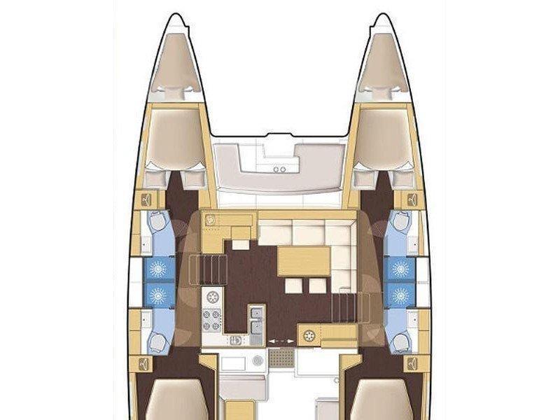 Lagoon 450  Flybridge (Summer Wind) Plan image - 2