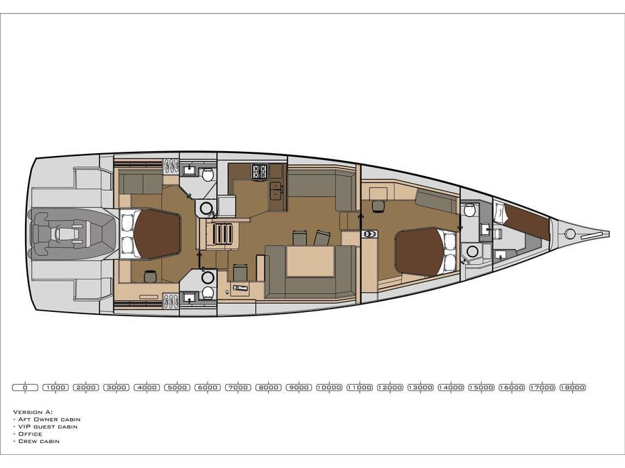 Dufour 63 Exclusive (Sophia) Plan image - 1