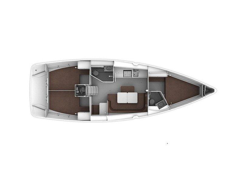 Bavaria Cruiser 41 (Erato (New Sails 2020)) Plan image - 10