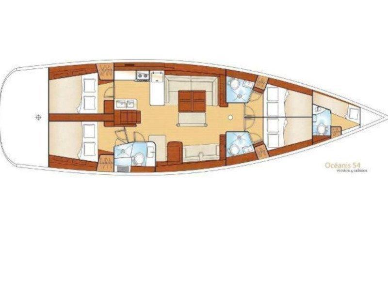 Oceanis 54 (Captain John) Plan image - 3
