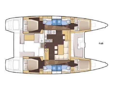 Lagoon 450  Flybridge (XCape) Plan image - 1