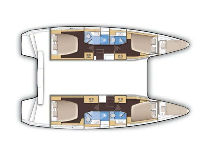 Lagoon 42 (Princess Merida) Plan image - 6