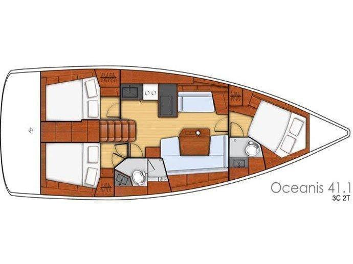 Oceanis 41.1 (Megisti) Plan image - 2