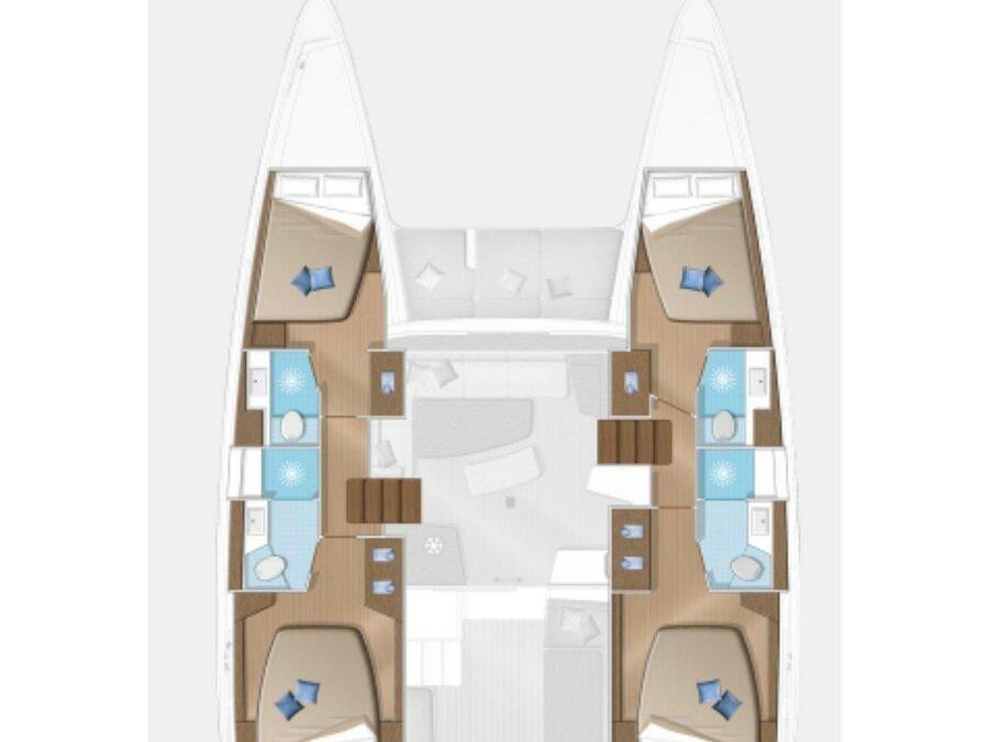 Lagoon 42 (Sea Wolf) Plan image - 2