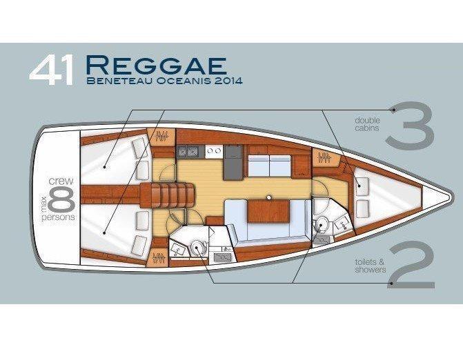 Oceanis 41 (Reggae) Plan image - 8