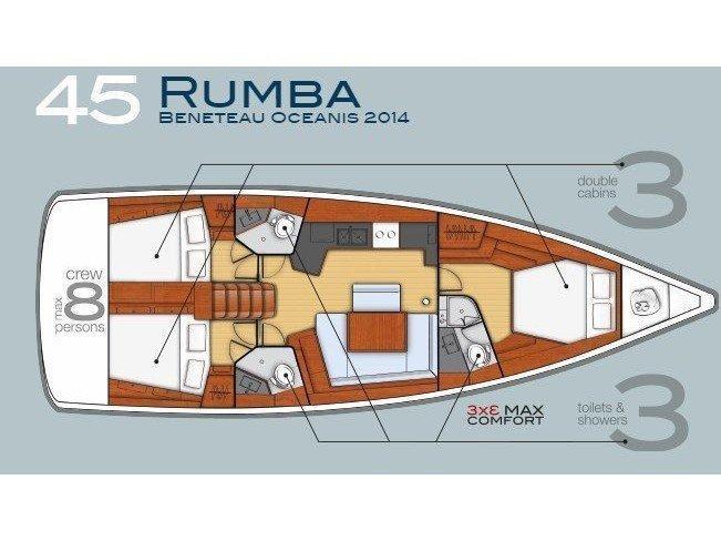 Oceanis 45 (3 cabins) (Rumba) Plan image - 11