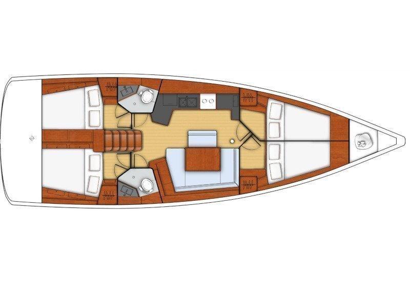 Oceanis 45 (DAEDALUS) Plan image - 15